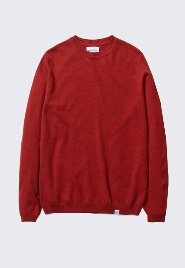 Norse Projects Sigfred Light Wool Sweater - Golden Orange