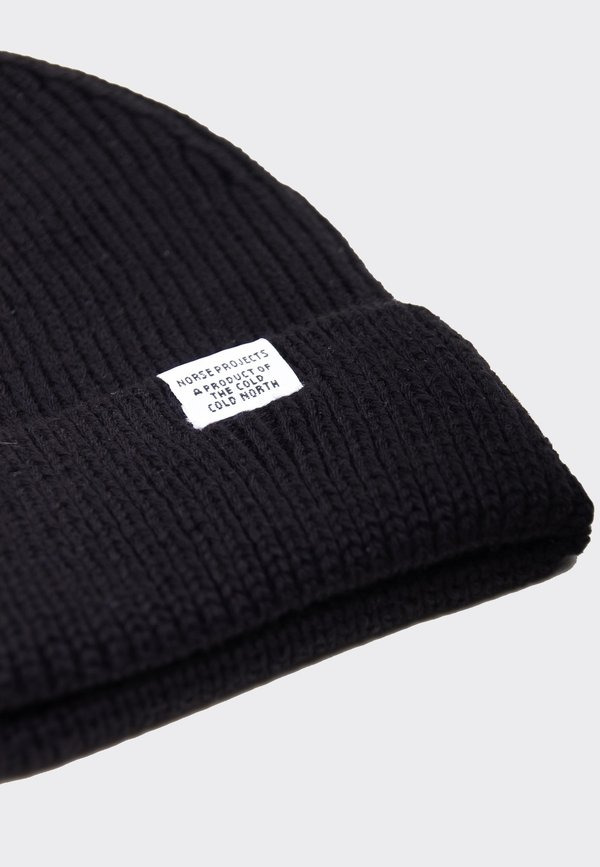 Norse Projects Norse Short Beanie - black