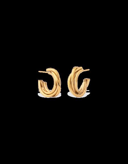 Completed Works Encounter Hoop Earrings - Gold Vermeil