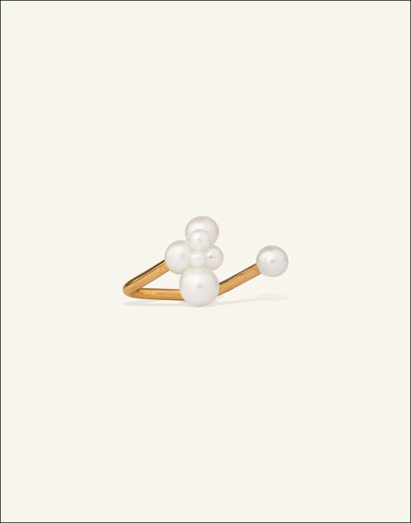 Completed Works The Moon Pearl Ring - Venice Gold Vermeil