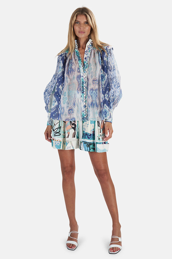 Zimmermann Glassy Long Sleeve Blouse