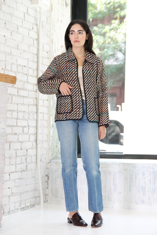 DUO NYC Vintage Silk Woven Jacket