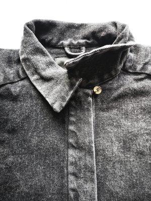 Berenik HIP DENIM BLOUSE - washed black