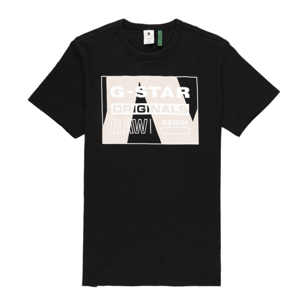G-Star RAW Layer Originals Logo Graphic T-Shirt - Dark Black