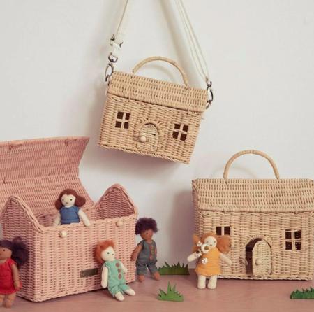 Kids Olli Ella Casa Bag Straw