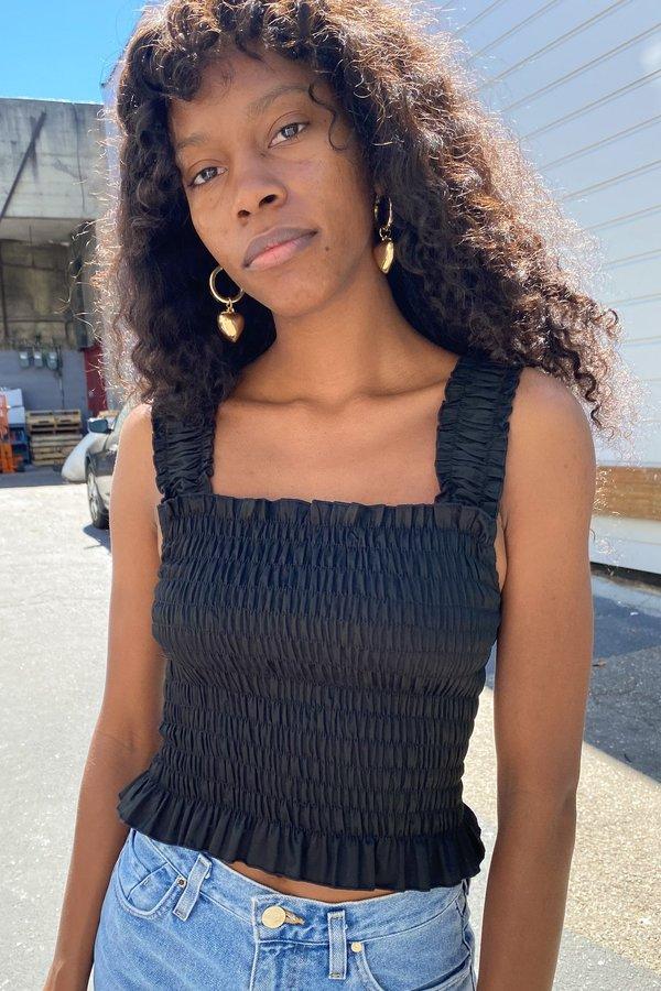 Lisa Says Gah Tammy Tank in Cotton Satin - Black