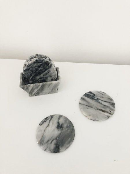 Ri-Ri-Ku Coaster Set - Dark Marble