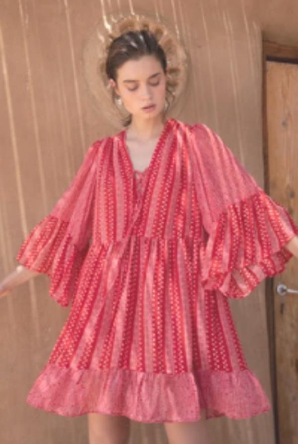 Sabina Musayev Sirene Dress - Red Print