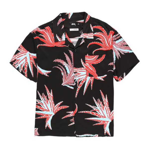 Stussy Cactus Rayon Shirt - Black