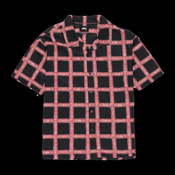 Stussy Hand Drawn Plaid Shirt - Black