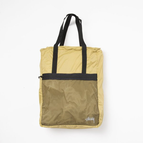 Stussy Light Weight Travel Tote Bag - Gold