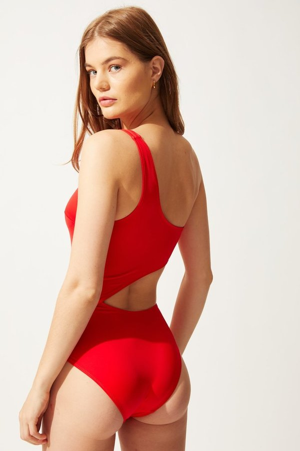 Solid and Striped The Claudia One Piece - Red