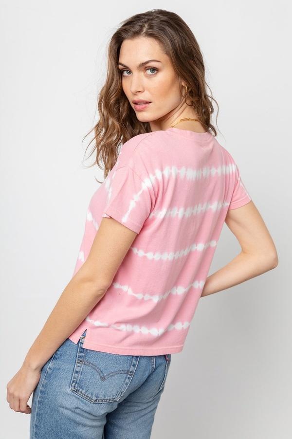 Rails Roman Tee - Pink Waves Tie-Dye