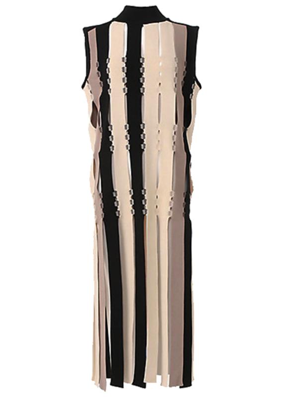AKIRA NAKA Idalia Knit Long Pullover - Ivory Multi