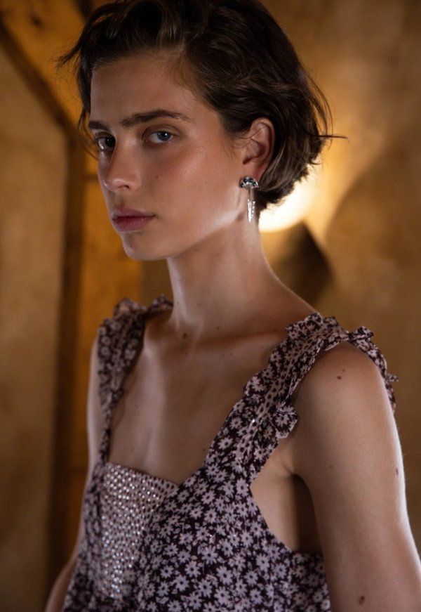 Sabina Musayev Genevieve Dress - Light Peach
