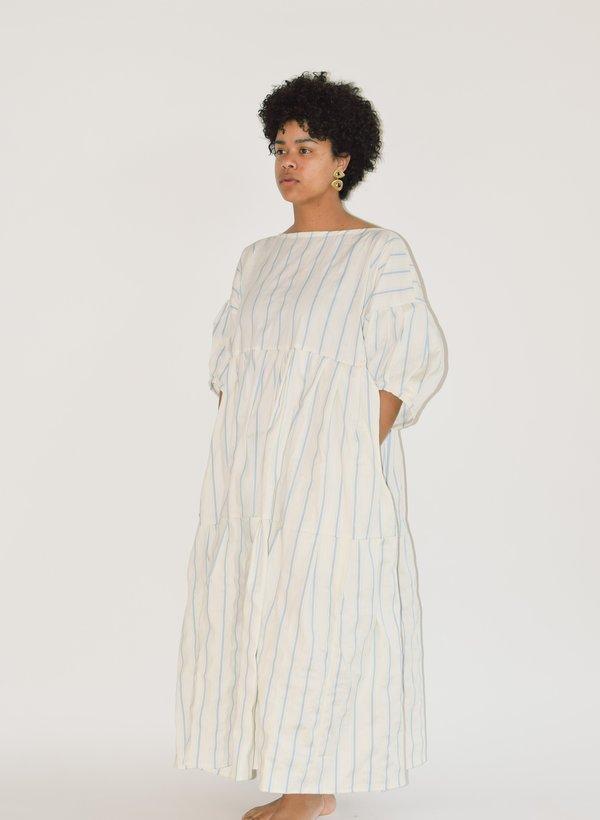 Museo Desdemona Dress - Blue Crinkle Stripe