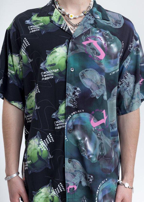 LXVI Split Graphic Shirt - Black/Navy