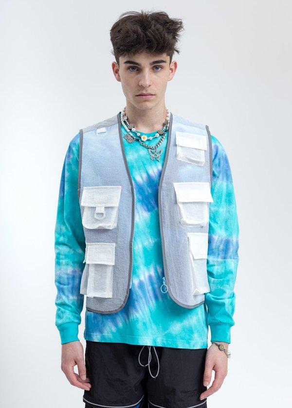 Black Lux Translucent Vest - Blue