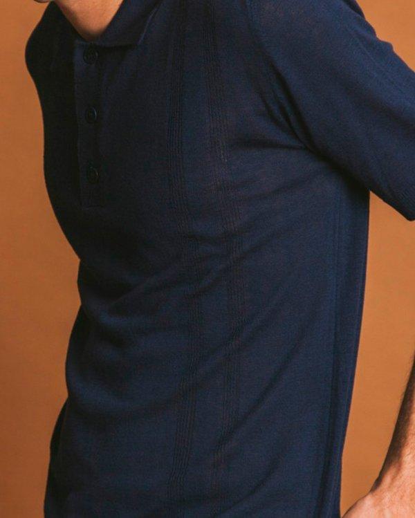 Thinking MU Polo Katonga Knitted - Blue