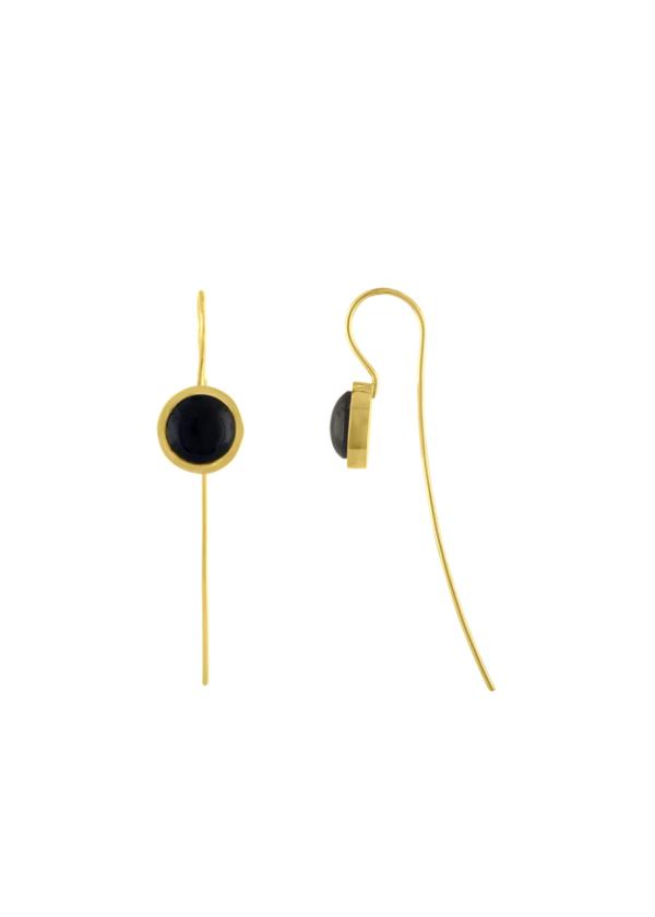 Katherine Parr Full Moon Wire Earrings
