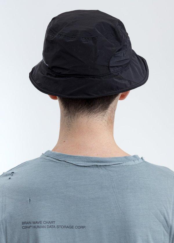 C2H4 Crooked Panelled Bucket Hat - Black