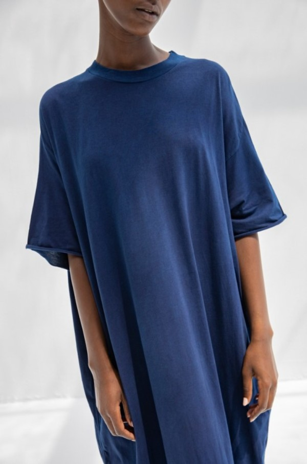 Cosmic Wonder Organic Cotton T-shirt Dress - Indigo