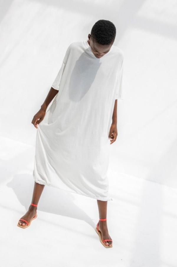 Cosmic Wonder Organic Cotton T-shirt Dress - White