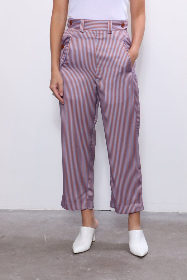 Jejia Pants - Blue/Brown