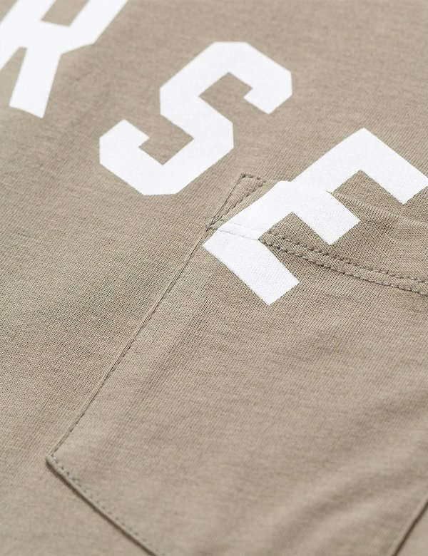 Norse Projects Niels Ivy Logo Pocket T Shirt - Washed Kelp