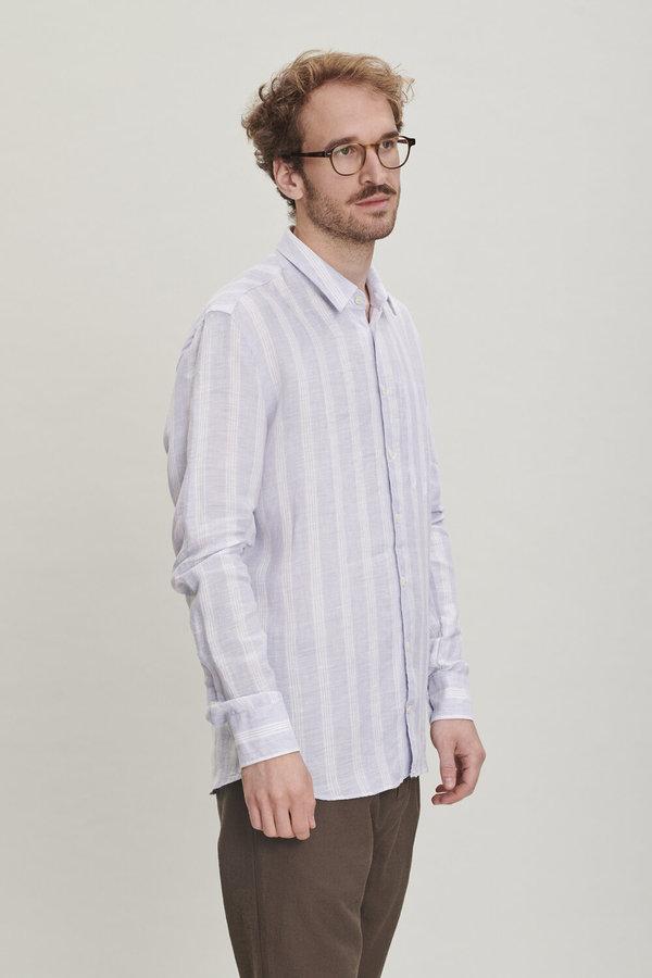 Delikatessen Feel Good Shirt in Stiped Italian Linen