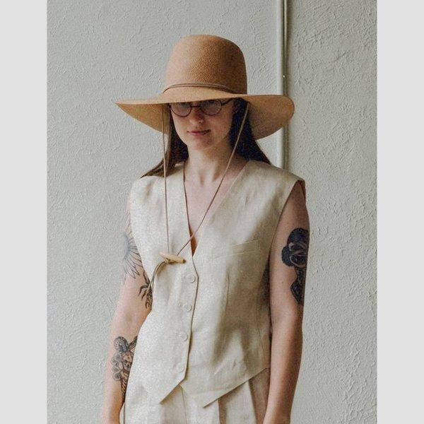 Brookes Boswell Suncrest Panama Straw Hat - Tan