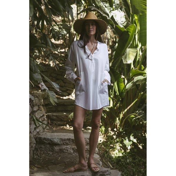 Natalie Martin Apres Flat Cotton Swim Top - White