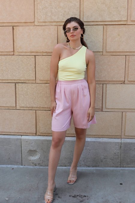 Vintage Raw Silk Shorts - Pink