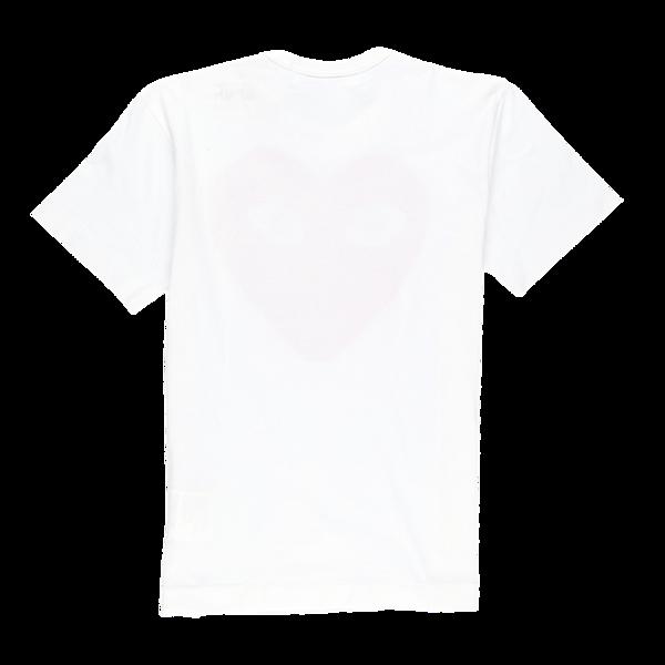 Comme des Garçons Red Heart Play T shirt - White/Red