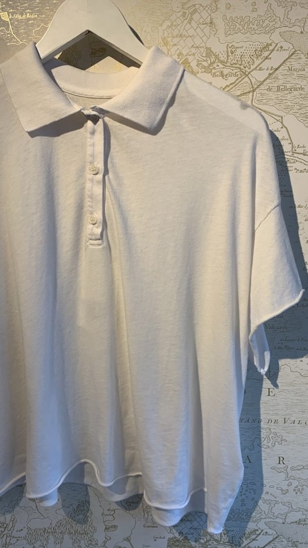 The Great. Cropped Polo Tee