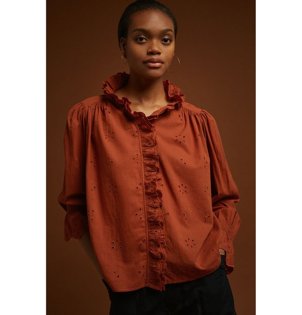 Soeur Daisya Shirt - Terracotta