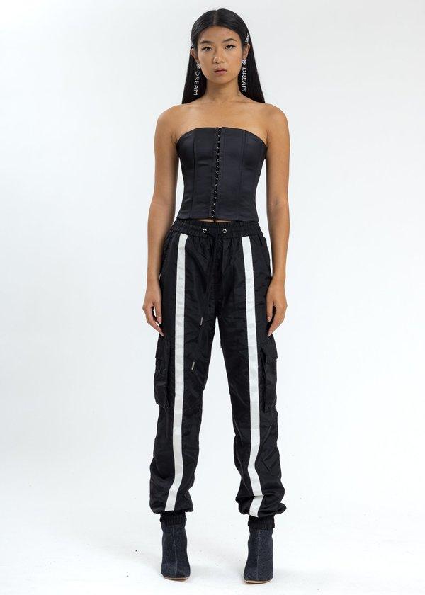 Danielle Guizio Nylon Trackpants - Black
