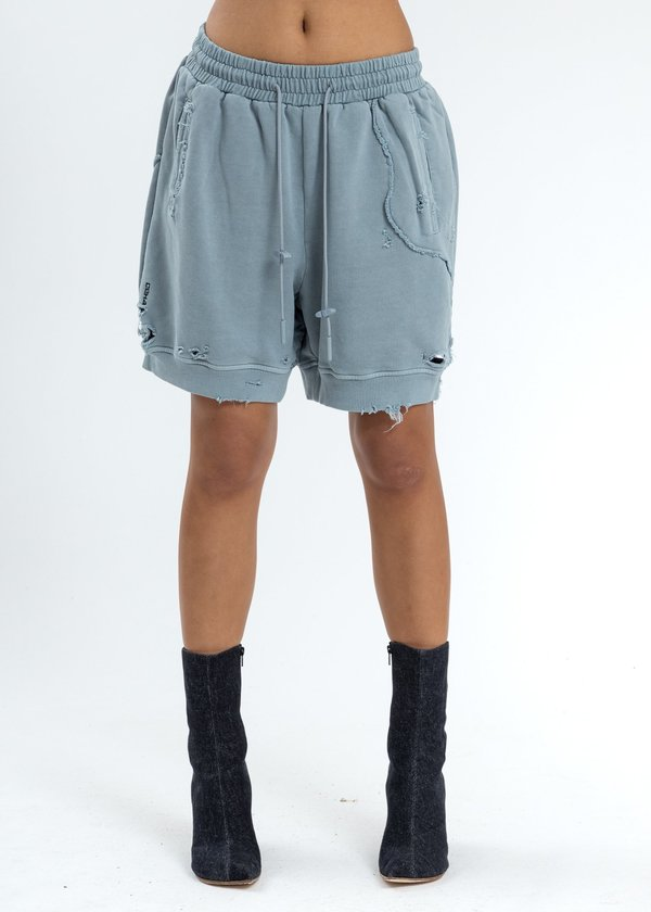 distressed sweat shorts