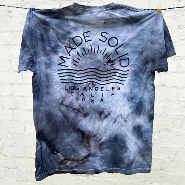 Made Solid SS Logo Tee - Black Tie Dye