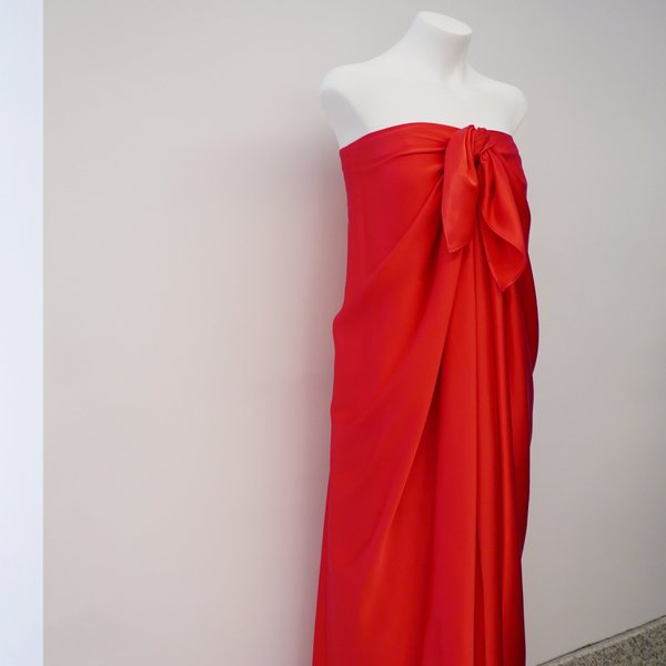BERNADETTE Betsy Silk Satin Dress - Red