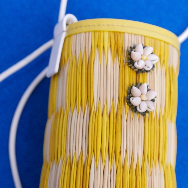 Heimat Atlántica Cupid Bag with Shells - Yellow