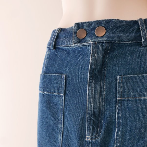 Sea NY Marble Denim Skirt - Blue