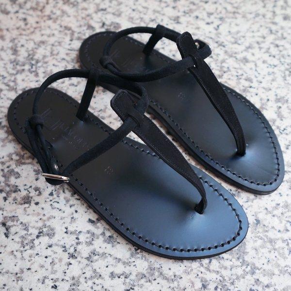 K. JACQUES ST STROPEZ Picon Suede Sandals - Black