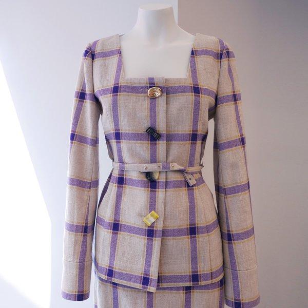 Rejina Pyo Martina Linen Jacket - Purple
