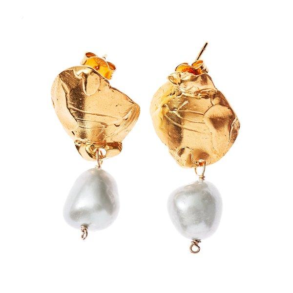 Alighieri Shadow and Pearl Earrings Natural