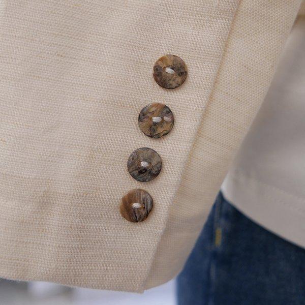 On Atlas Short Linen Blazer - Natural