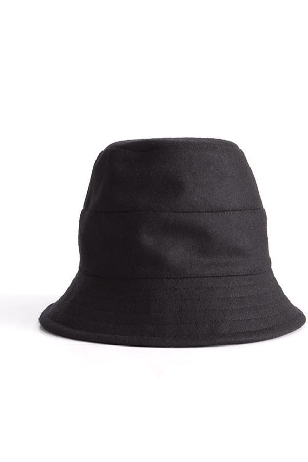 Tsuyumi Mid Brim Wool Hat Black