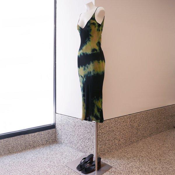 Collina Strada Tie Dye Silk Barbarella Dress
