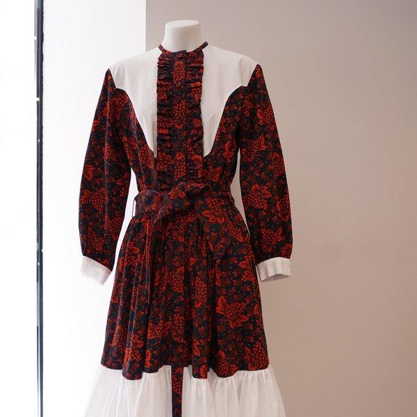 BATSHEVA Western Dress - Red Grapes