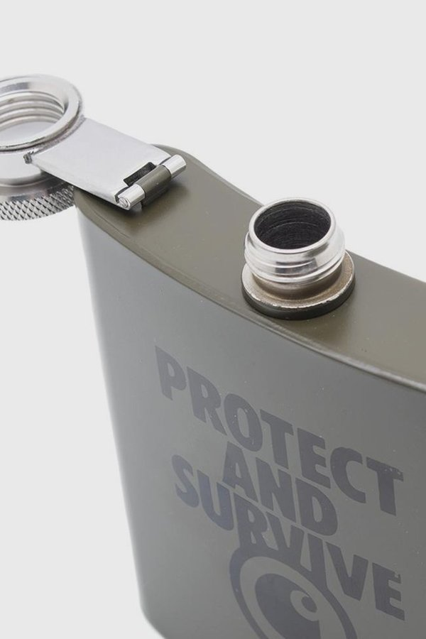 CARHARTT WIP Protect and Survive Whiskey Flask - Cypress